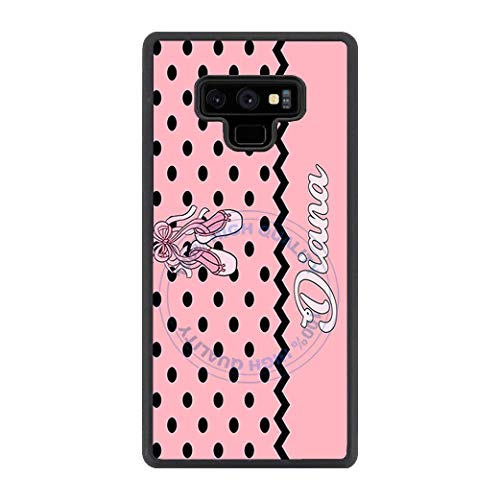 BRGiftShop Personalized Custom Polka Dot Pattern Dance Ballerina Ballet Shoes Rubber Phone Case For Samsung Galaxy Note -