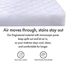 Mattress Cover Cooling Fitted Water Resistant Hypoallergenic Breathable SNUZZZZ Mattress Pad Twin Mattress Topper Quilted
