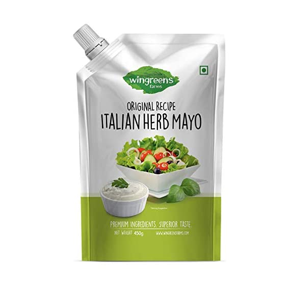 Wingreens Farms- Italian Herb Mayo (Pack of 1-450g)