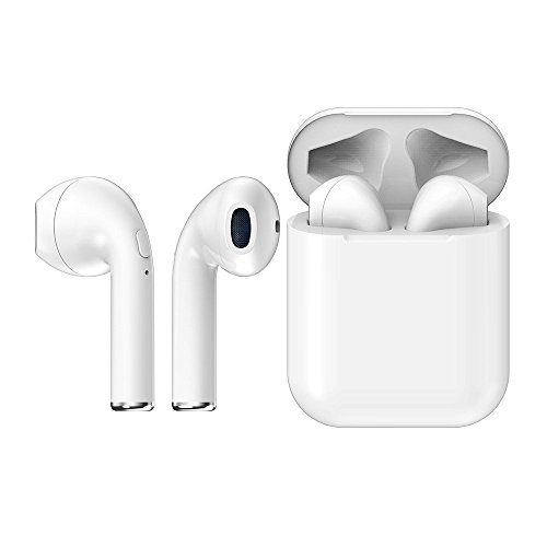 Mini in-Ear Earbuds Wireless Headphones with Bluetooth a Mic for Apple Smart Watch Series 2 3 1, for i iPad Pro Mini 4 Air 2 Tablet PC, Cordless Earphones with Charging Case for Running Working Out by Valley Of The Sun