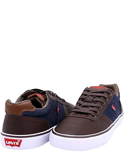 Sneakers Levis Mens Miles Cacti / Denim, Marrone / Navy, 7.5