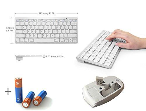 49ef551abd6 White Wireless Mini QWERTY Keyboard & Mouse for SONY Bravia KDL-42W850A & KD-84X9000  & KDL-24W600A & Bravia KDL-32W670A & 32EX550 & KD-55X8500B Smart TV ...