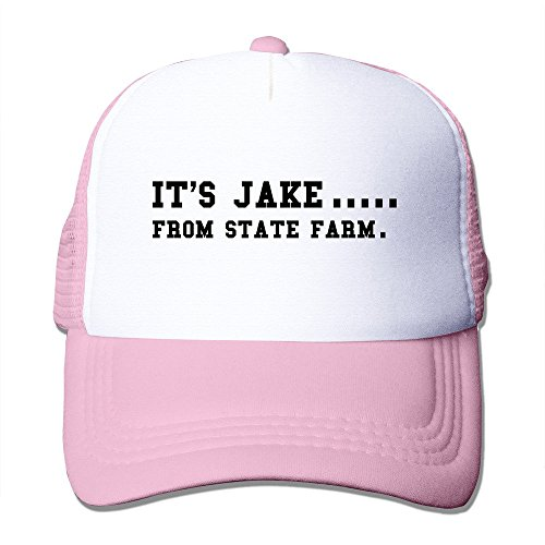 Bekey Unique IT'S JAKE FROM STATE FARM Cap Front Fashion Printed Pink (Good Name A Halloween Party)