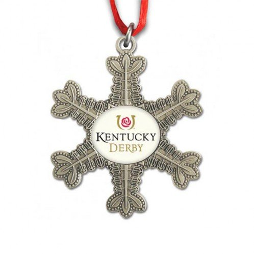 - Indiana Metal Craft Kentucky Derby Color Print Pewter Snowflake Ornament. KOR24501 IMC-Retail
