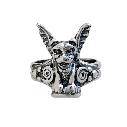 - Sterling Silver Italian Gargoyle Ring Size 10
