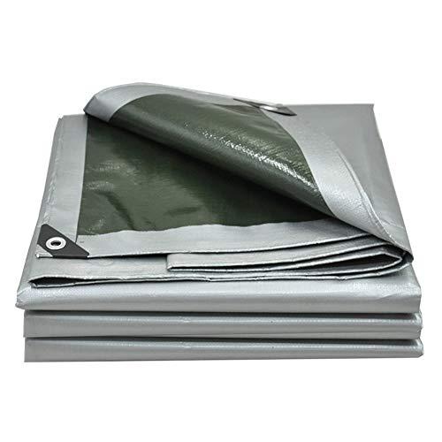 液体理容室キリンQIANGDA トラックシート荷台カバー軽量 防水 ポリエチレン 耐寒性 耐久性のある (160g/m2、厚さ0.35mm)様々なサイズ (色 : Silver gray+army green, サイズ さいず : 3.8 x 5.8m)