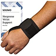 Amazon Brand - Solimo Adjustable Wrist Support, Neoprene, One Size
