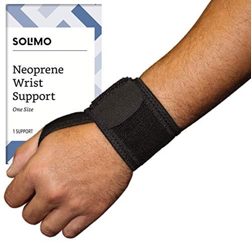 Amazon Brand - Solimo Adjustable Wrist Support, Neoprene, One Size