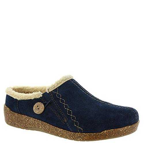 Slipper Origins Earth Johanna Suede Navy Women's HaxUtxdq