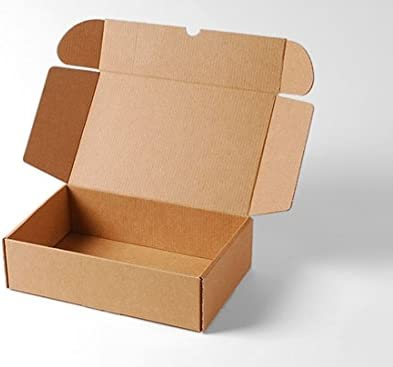 Selfpackaging Caja Rectangular automontable en cartón microcanal Color Kraft. La Caja envíos Postales - M