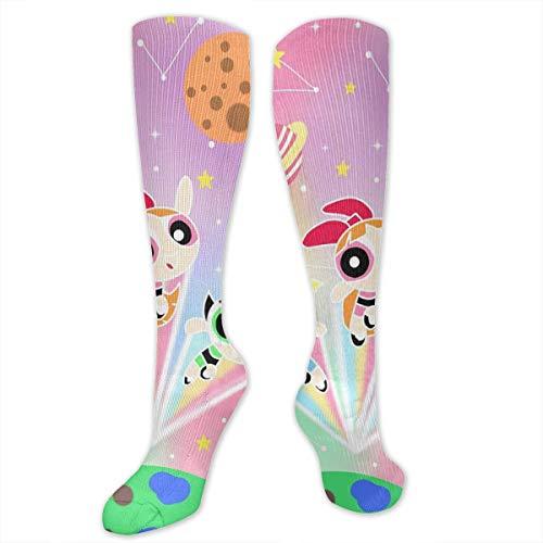 JINUNNU The Powerpuff Girls Compression Socks Soccer Socks High Socks Long Socks Sports Outdoor for Men Women]()