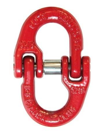 4,0 Meter Rückekette 8mm vierkant mit Verkürzung und Ovalem Aufhängeglied