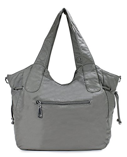 H1476 Ash Zippers Scarleton Front Washed Bag Shoulder xqn0XfZ
