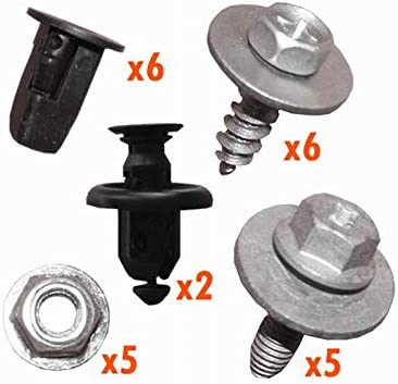 myshopx C105 set underrun protection underrun motor protection clips clamp screws mounting kit plastic rivets underrun protection mounting brackets mounting clips