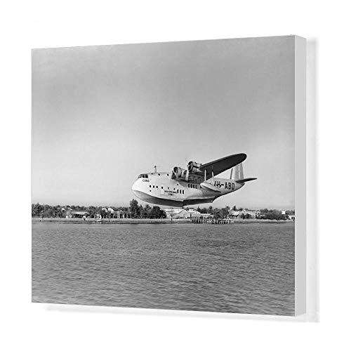 (Media Storehouse 20x16 Canvas Print of Short C-Class Flying Boat VH-ABD of Qantas (14633681))