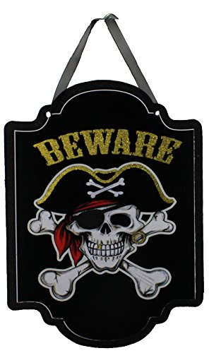 Beware Glitter Halloween Sign -