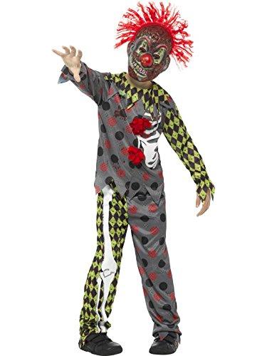 Smiffy's 45125M Deluxe Twisted Clown Costume, Multicolor, Medium