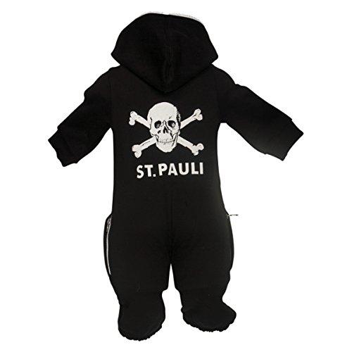 FC St. Pauli Baby Onesie Overall Strampler Totenkopf schwarz