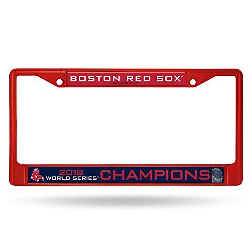 (Boston Red Sox 2018 World Series Champions Color Chrome License Plate Frame (Red) )
