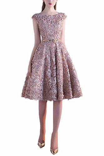 khaki lace dress - 8