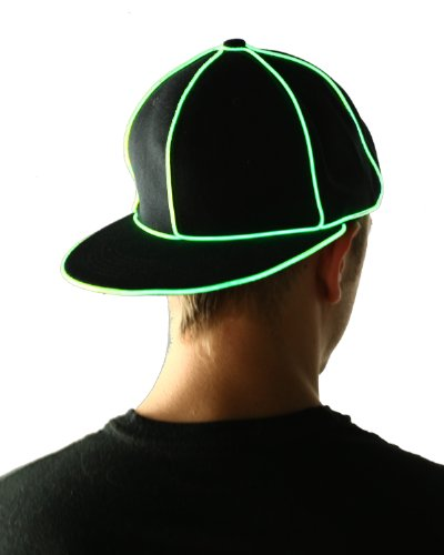 (Light Up El Wire Hats (Green))