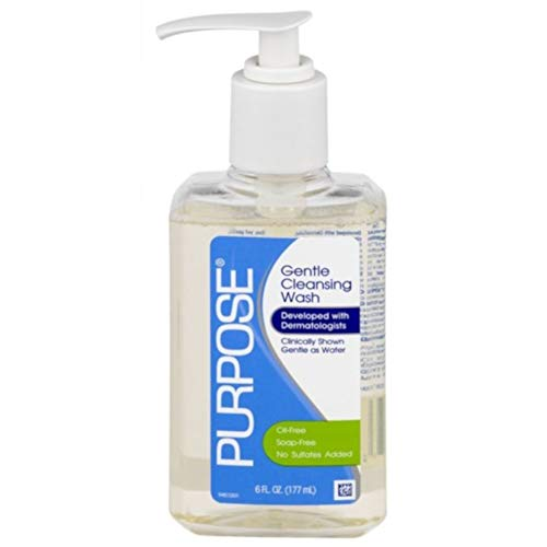 Purpose Gentle Cleansing Wash, 6-Ounce Pump Bottle (Pack of 2)