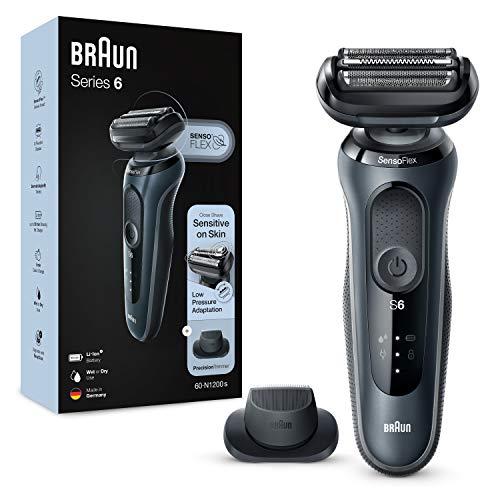 Braun Series 6 Afeitadora Eléctrica Hombre, Máquina de Afeitar Barba con Recortadora de Precisión y Cabezal SensoFlex…