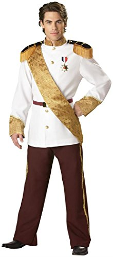 InCharacter Costumes, LLC Men's Prince Charming Costume, White, X-Large