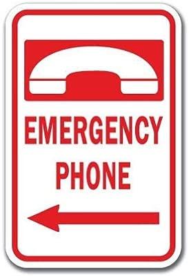 HSSS Divertido Cartel Decorativo para teléfono de Emergencia ...