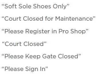 Har-Tru Tennis Court Accessories - Court Signs -Court Closed, 12'' wide x 10'' high by Har-Tru
