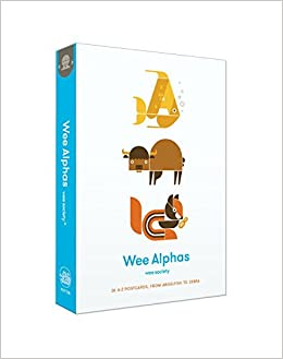 Image result for Wee Alphas: 26 A to Z Postcards, from Angelfish to Zebra