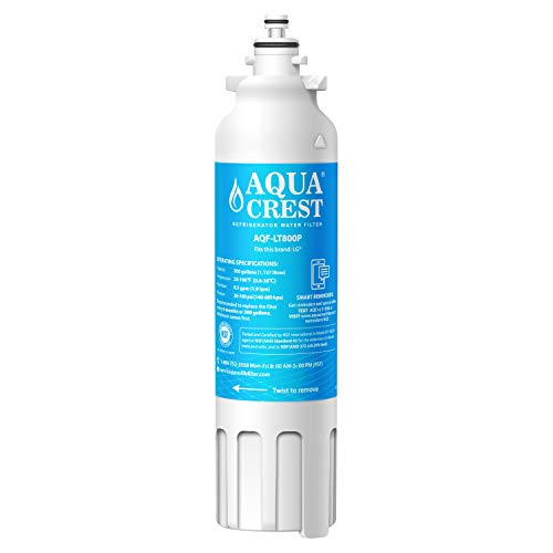 AQUACREST ADQ73613401 Refrigerator Water Filter, Compatible with LG LT800P, ADQ73613402, Kenmore 9490, 46-9490