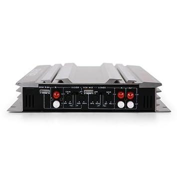 AUNA Platin Line 400 Set Tuning 4.0 Pack HiFi Complet : Ampli 3 Voies Enceintes et c/âbles - Acier Techno