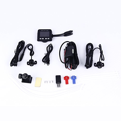 """Biker's Camera, Sykik Rider SYBC6 Motorcycle Action Camera, Sport camera with DVR. With Front camera and back camera , 2"""" LCD monitor with Picture in picture"""