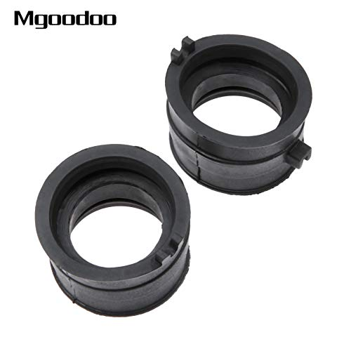 Daphot-Store - 2x Rubber Carburetor Adapters Interface Glue Insulator Connectors Gum For Honda Steed400 1992-1997 NT400 Bros400 VT600 1988-2008