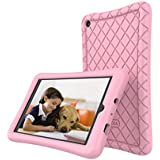 Roscea Silicone Fire 7 Case for All-New Amazon Fire 7 Tablet (7th Generation, 2017 Release Only) - [Anti Slip] Shockproof Protective Cover [Kids Friendly] Light Weight for Kindle Fire 7
