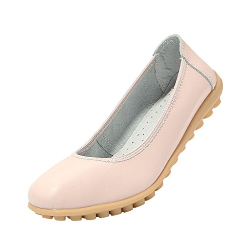 Flat Grand Comfortable On Pumps Slip Hee Women Pink pdXxvqf