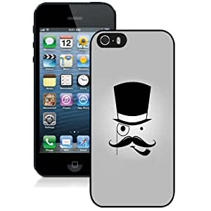 Beautiful Custom Designed Cover Case For iPhone 5S With Cartoon Mustache Man Phone Case Cover