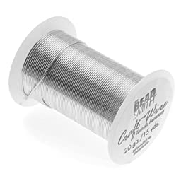 Beadaholique Tarnish Resistant Copper Craft Wire, 13.5m, Silver