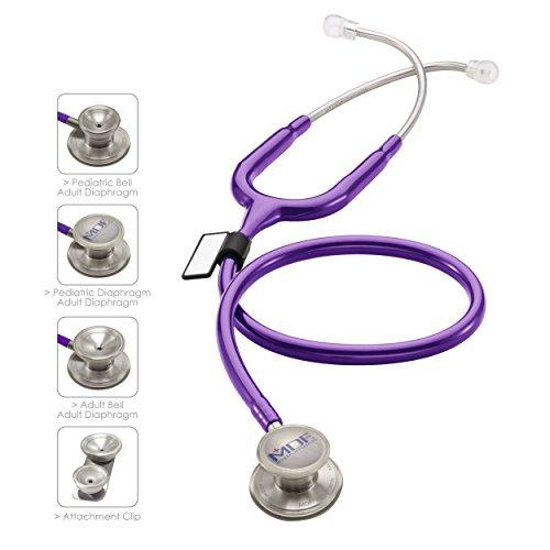 MDF® MD One® Epoch Lightweight Titanium Stethoscope - Free-Parts-for-Life & Lifetime Warranty - Purple Rain (MDF777DT-08)