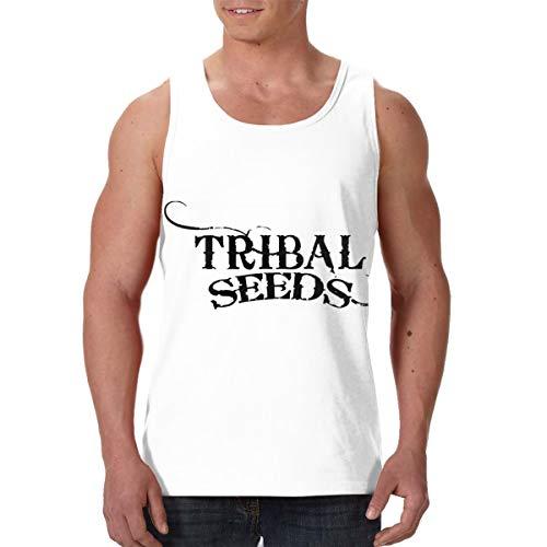 Top Service Tribal Seeds Mens Sleeveless Tank Tops Cool Fitness Shirt Black S