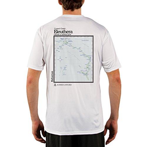uthera Bahamas Chart Men's UPF 50+ Short Sleeve T-Shirt Medium White ()