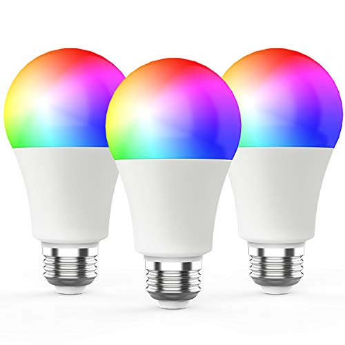 Novostella Smart Light Bulb, RGBCW Wi-Fi LED Bulb A19[7W 600LM] Dimmable Multicolored Lights, No Hub Required, Works with Amazon Alexa and Google Home, 60W Equivalent (3 Pack)