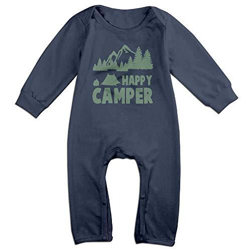 Camper Short Sleeve Onesie - Green Happy Camper Long Sleeve Infant Baby Bodysuits Cotton Boys Girls Romper Bodysuit Onesies