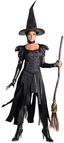 Rubie's Costume Disney's Oz The Great and Powerful Adult Deluxe Wicked Witch Of The West Dress and Hat, Black, (Wicked Witch Of The West Dress)