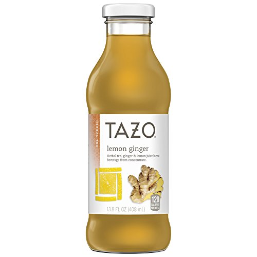 Tazo Lemon Ginger Iced Tea, 13.8 Ounce Glass Bottles, 8 Count (Tazo Organic Iced Tea)