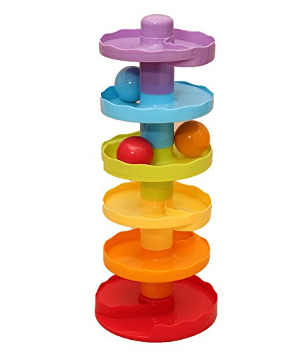 WITKA Baby Ball Drop - 6 Tires Roll Play Tower for 3+ Months Toddlers