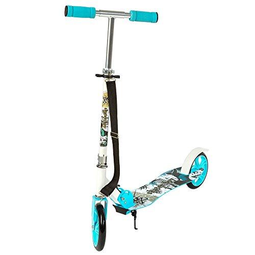 TecTake Patinete Monopatín Scooter para ciudad niños 205mm azul