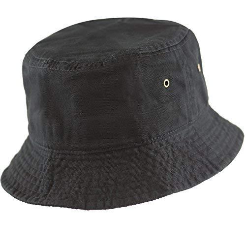 88245029e602a THE HAT DEPOT 300N Unisex 100% Cotton Packable Summer Travel Bucket ...
