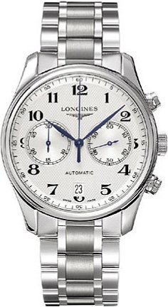 Longines Master Chronograph Automatic Silver Dial Stainless Steel Mens Watch L2.629.4.78.6